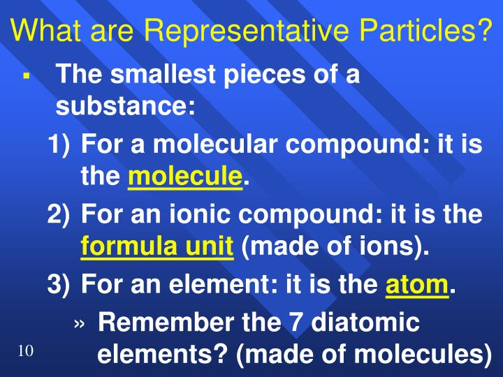 What are Representative Particles?
