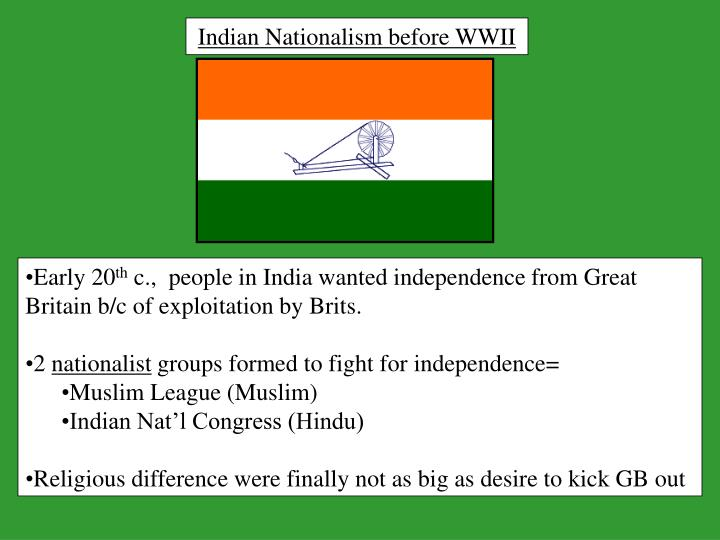 Indian Nationalism before WWII