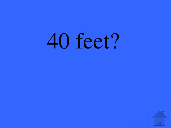 40 feet?