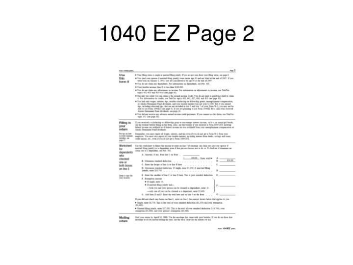 1040 EZ Page 2