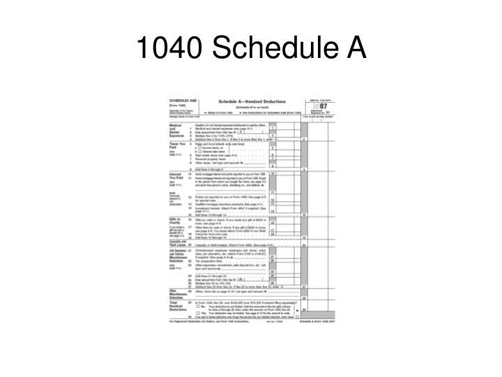 1040 Schedule A