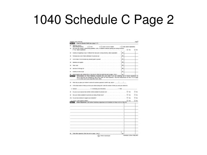 1040 Schedule C Page 2