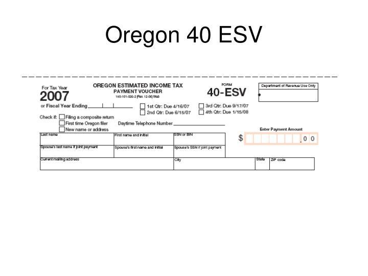 Oregon 40 ESV