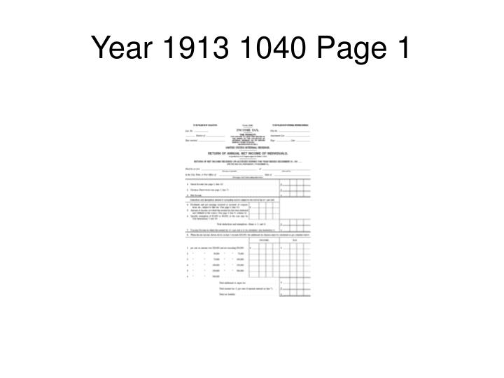 Year 1913 1040 Page 1