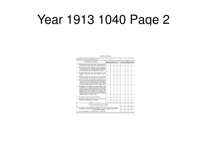 Year 1913 1040 Page 2