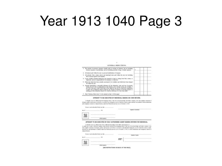 Year 1913 1040 Page 3