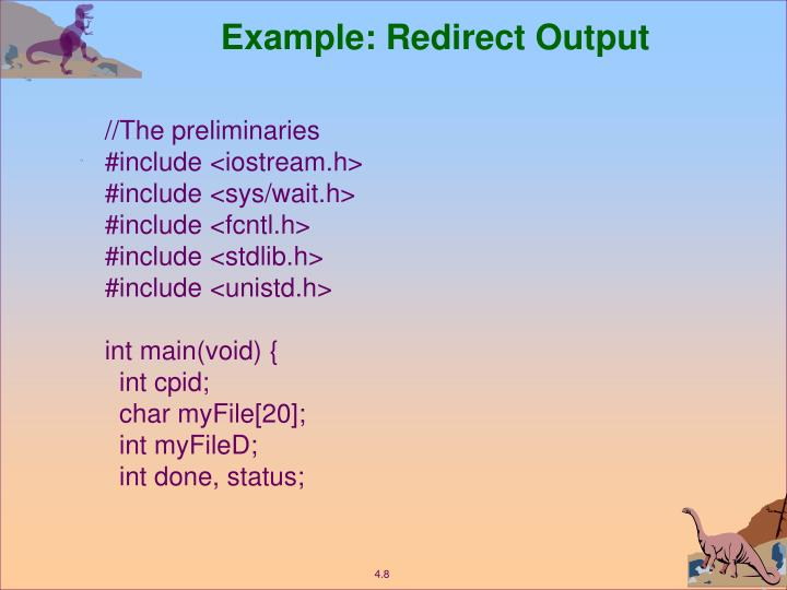 Example: Redirect Output
