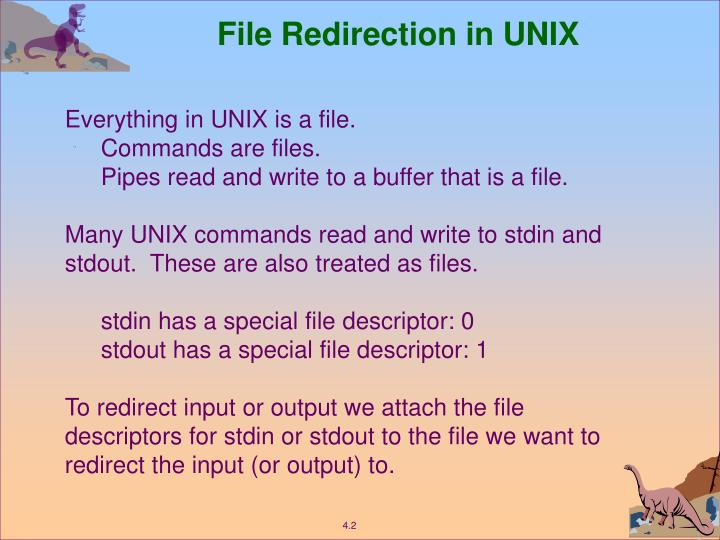 File Redirection in UNIX
