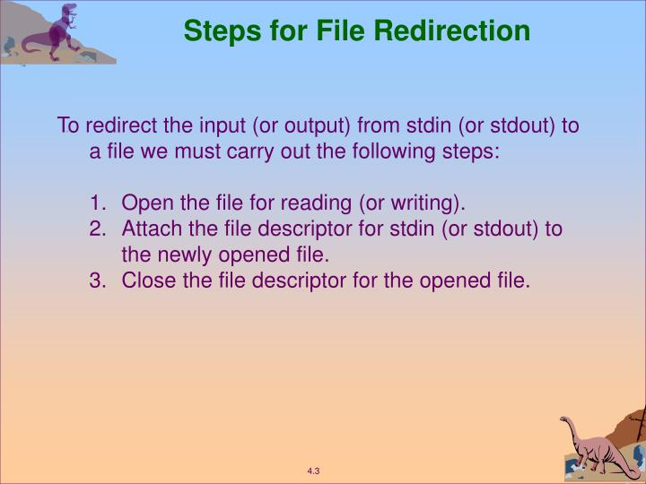 Steps for File Redirection