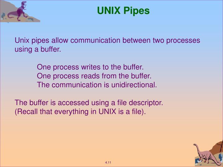 UNIX Pipes
