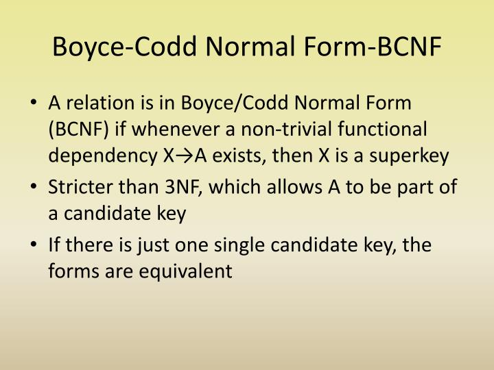 Boyce-Codd Normal Form-BCNF