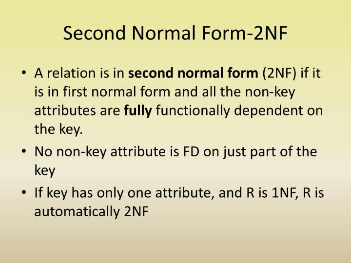 Second Normal Form-2NF