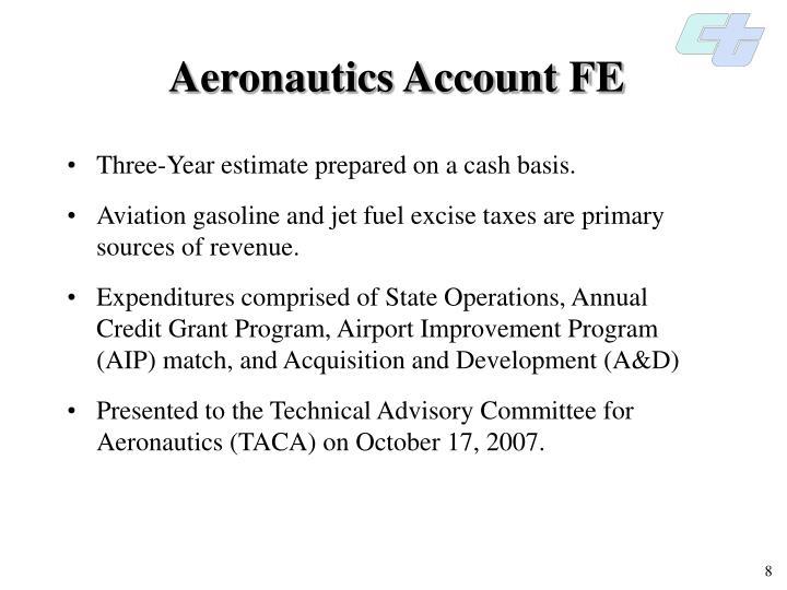 Aeronautics Account FE