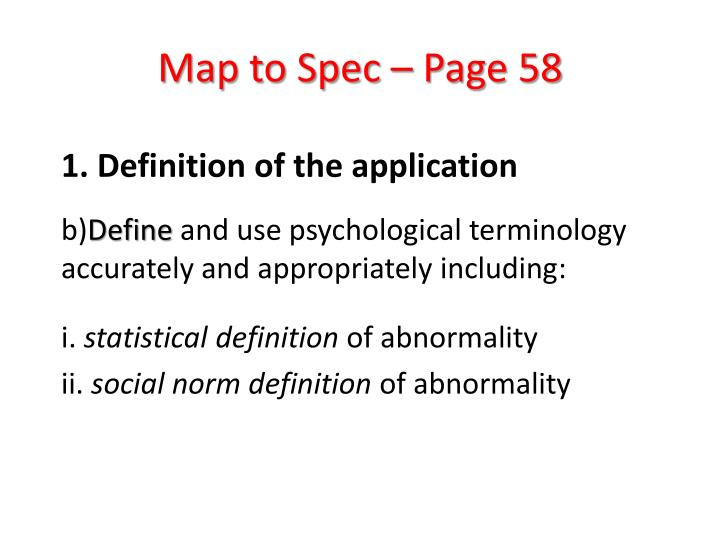 Map to Spec – Page 58