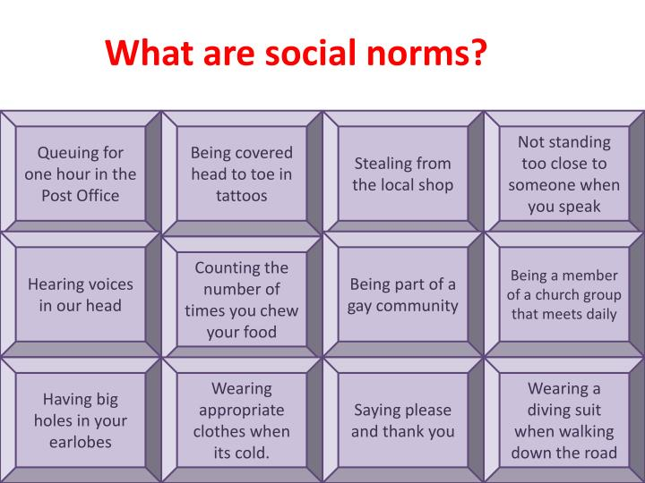 What are social norms?