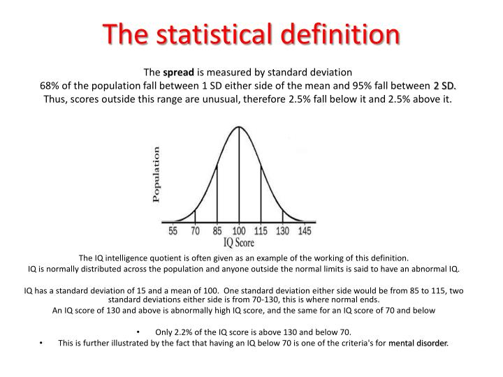 The statistical definition