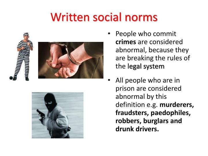 Written social norms