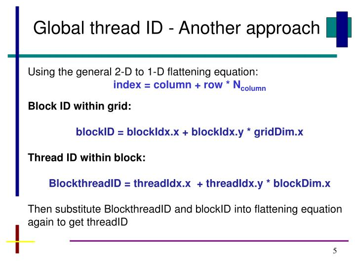 Global thread ID - Another approach