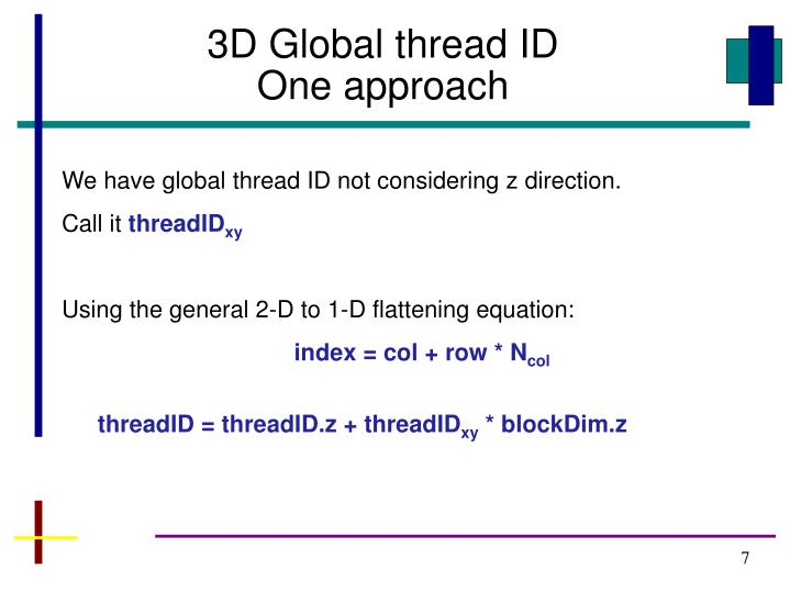3D Global thread ID