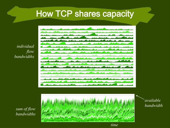 How TCP shares capacity