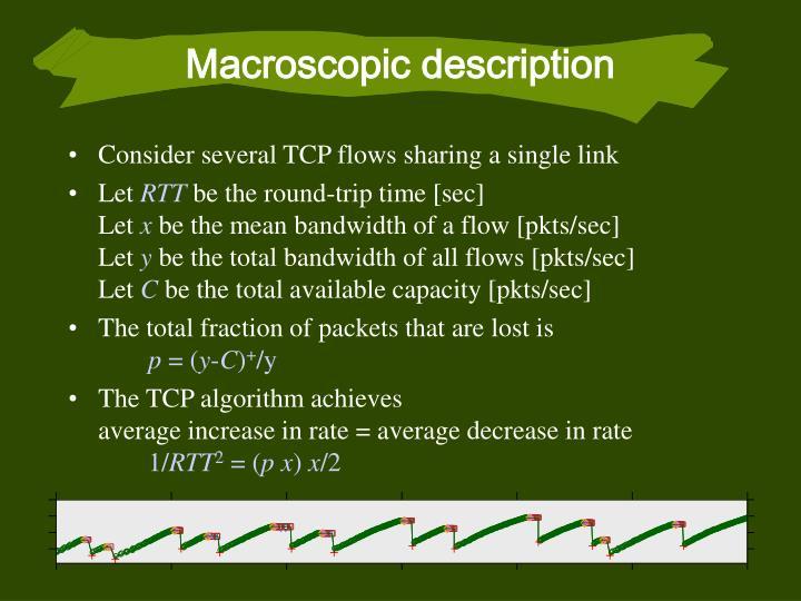 Macroscopic description