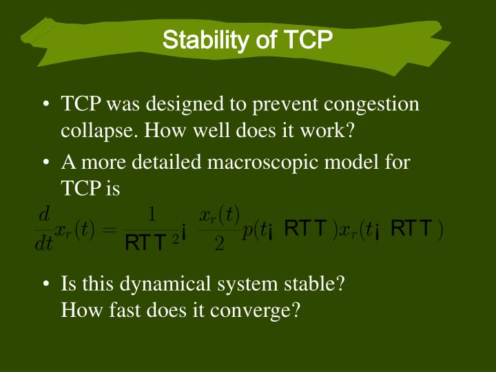 Stability of TCP