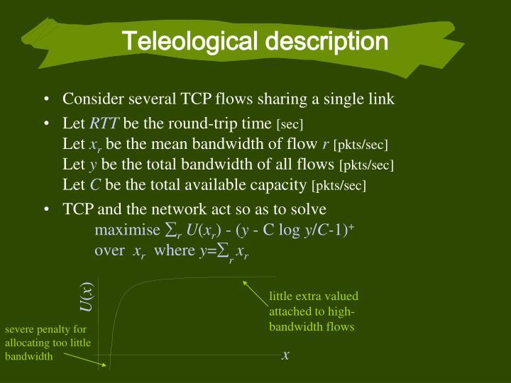 Teleological description