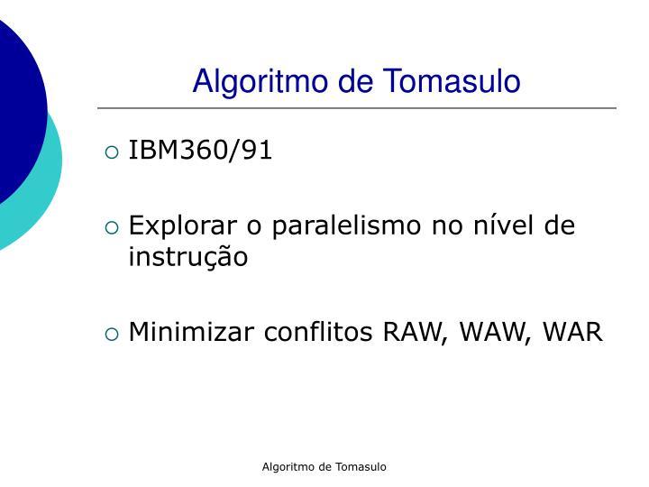 Algoritmo de Tomasulo