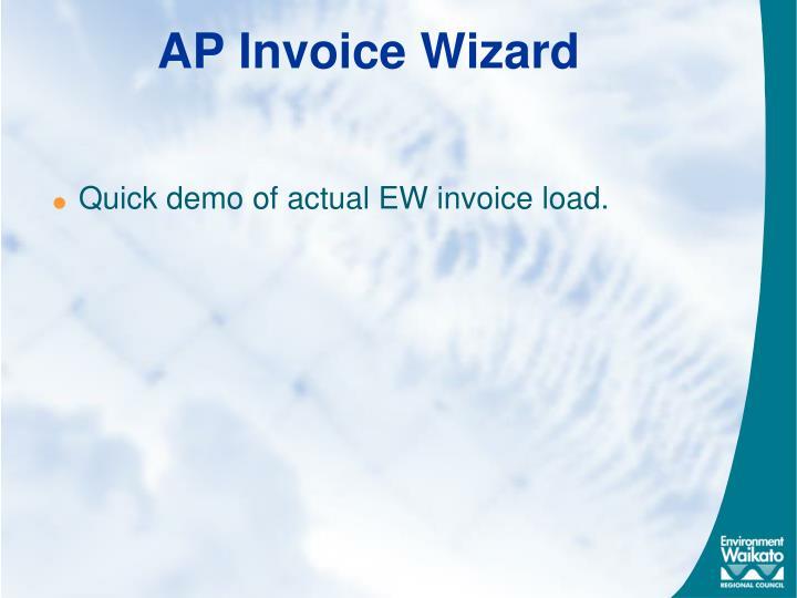 AP Invoice Wizard