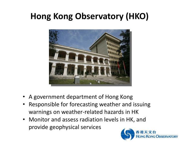 Hong Kong Observatory (HKO)
