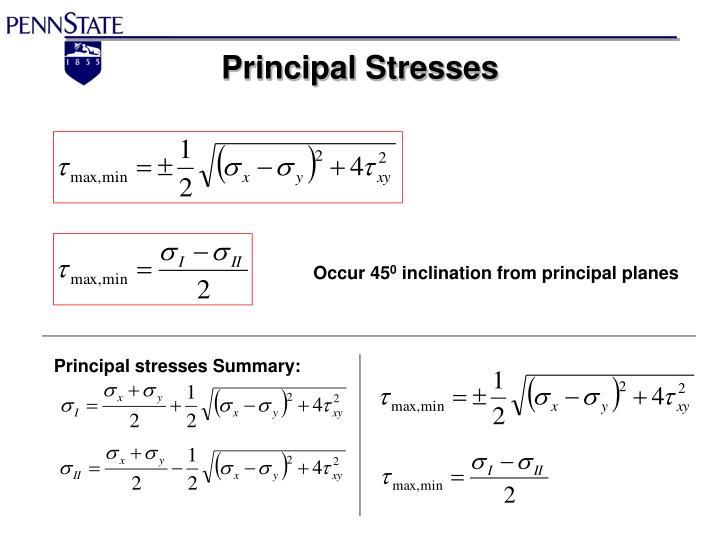 Principal Stresses