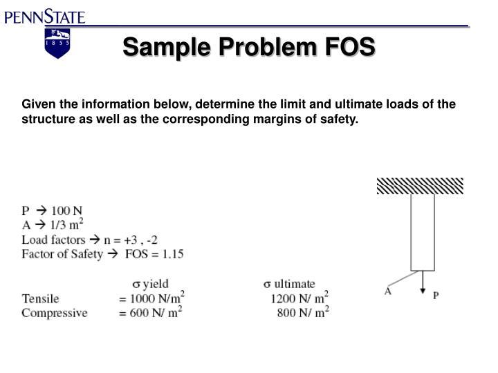 Sample Problem FOS