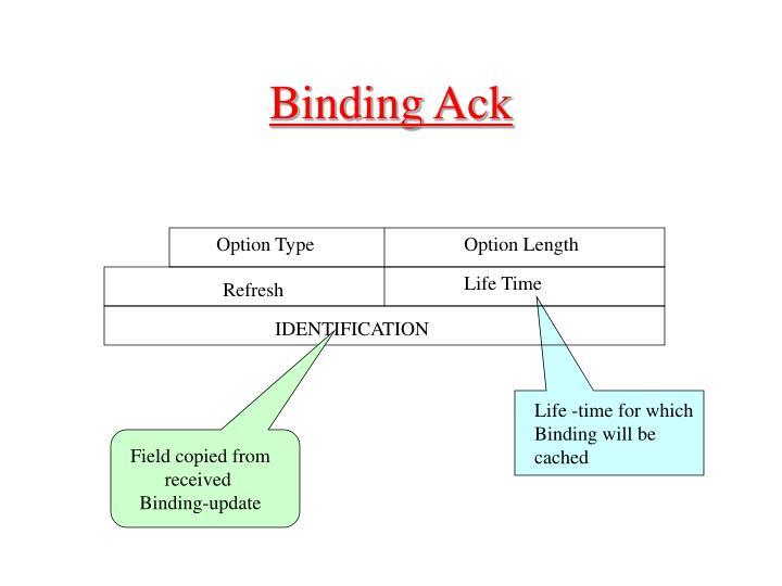Binding Ack
