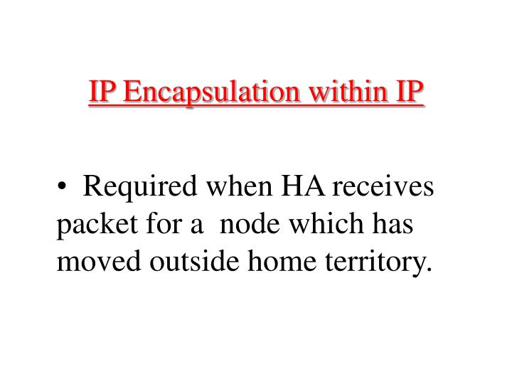 IP Encapsulation within IP
