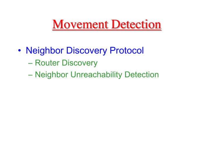 Movement Detection