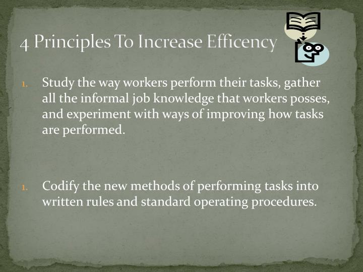 4 Principles To Increase Efficency