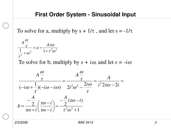 First order system sinusoidal input1