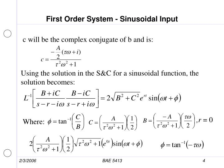 First Order System - Sinusoidal Input
