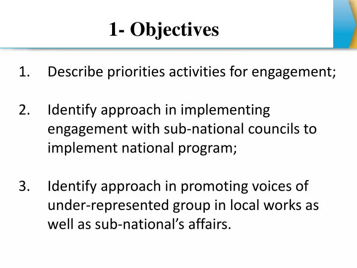 1- Objectives