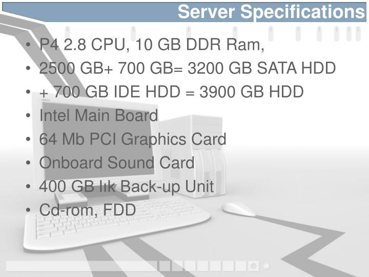 Server Specifications
