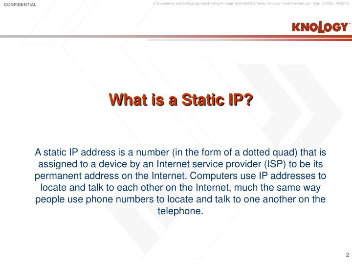 What is a Static IP?