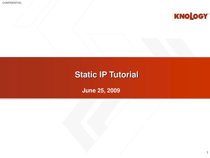 Static IP Tutorial
