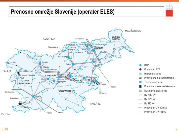 Prenosno omrežje Slovenije (operater ELES)