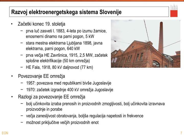Razvoj elektroenergetskega sistema Slovenije
