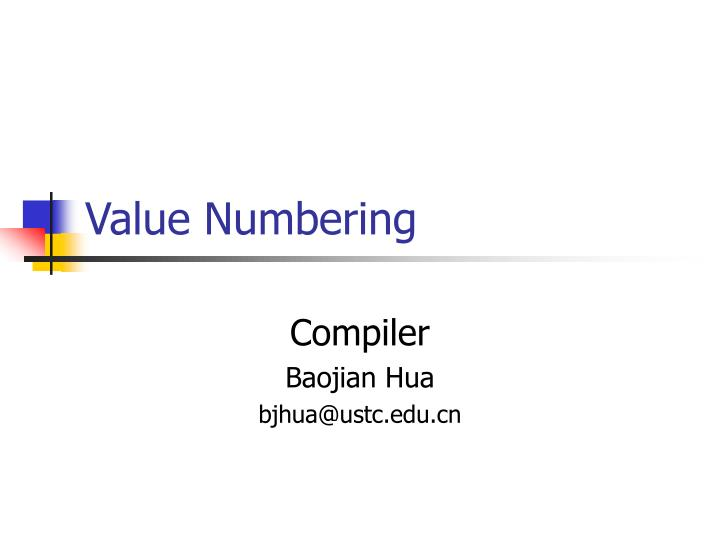 Value Numbering