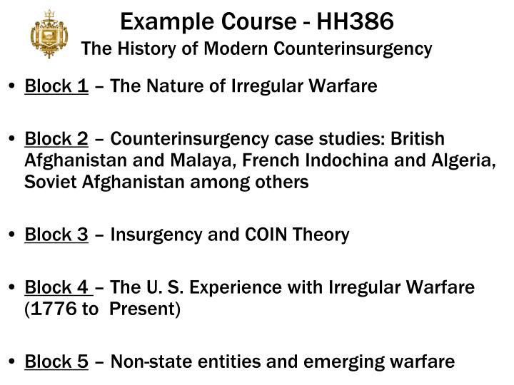 Example Course - HH386