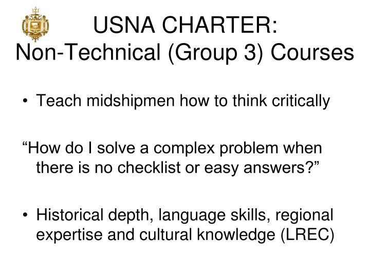 USNA CHARTER: