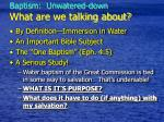 baptism unwatered down what are we talking about