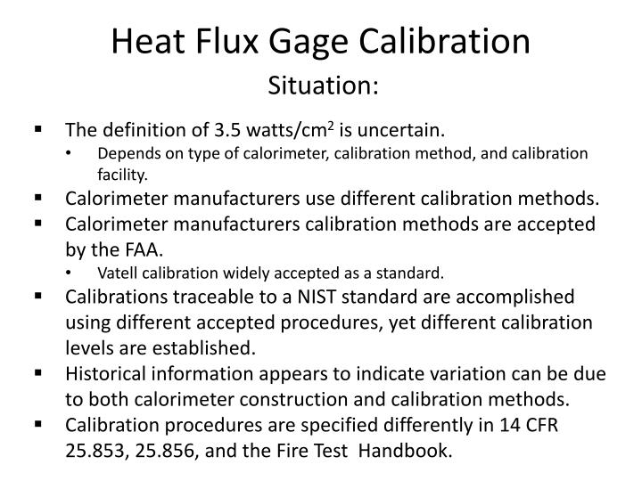 Heat flux gage calibration1