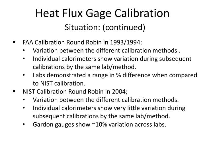 Heat Flux Gage Calibration